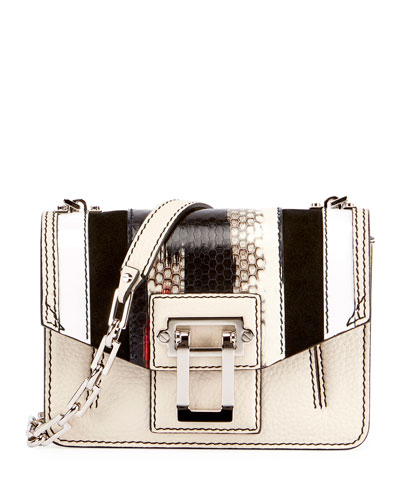 Hava Chain Lindos Crossbody Bag, Beige