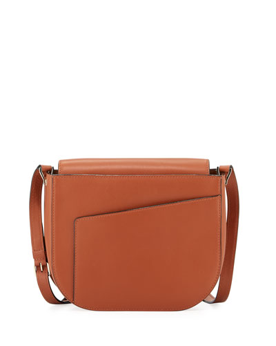 Twist Smooth Leather Crossbody Bag