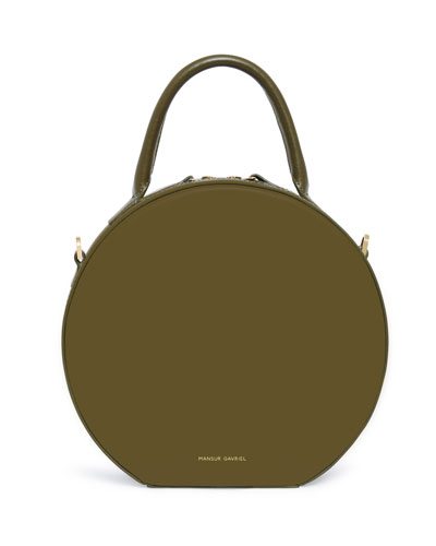 CIRCLE CROSSBODY CALF DETCH