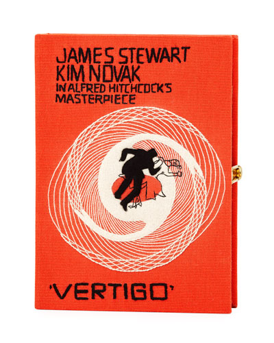 Vertigo Movie Poster Clutch Bag, Orange
