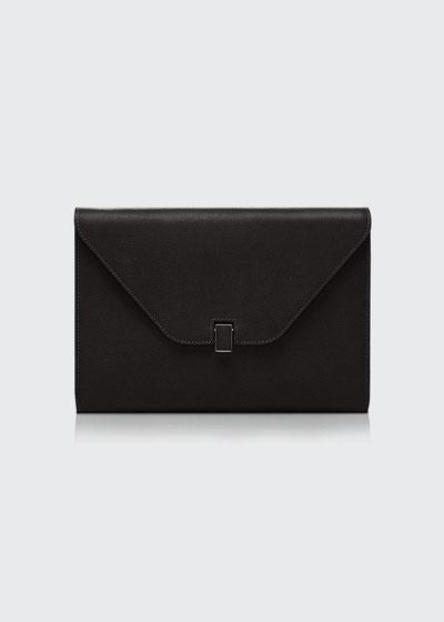 Leather Tablet Cover/Clutch Bag, Black