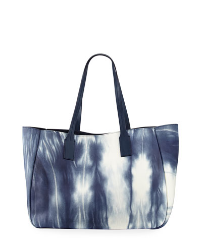 Bond East West Tote Bag, Blue/White