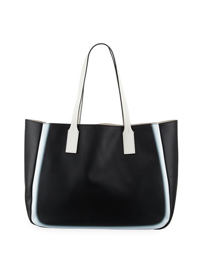 Bond East West Tote Bag, Black/White