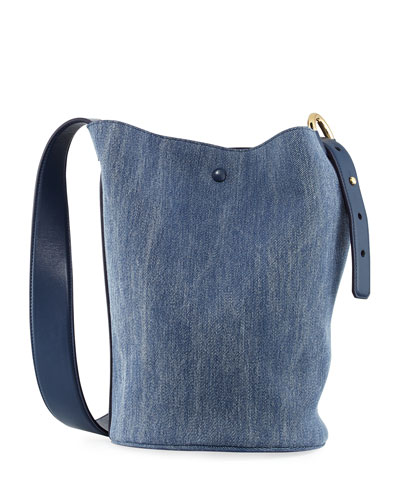 Grove Denim Bucket Bag, Navy