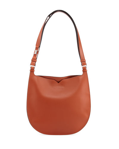 Weekend Leather Hobo Bag
