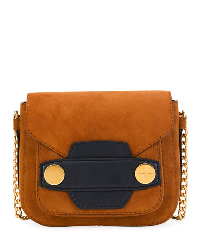 Alter Faux-Suede Shoulder Bag, Brown