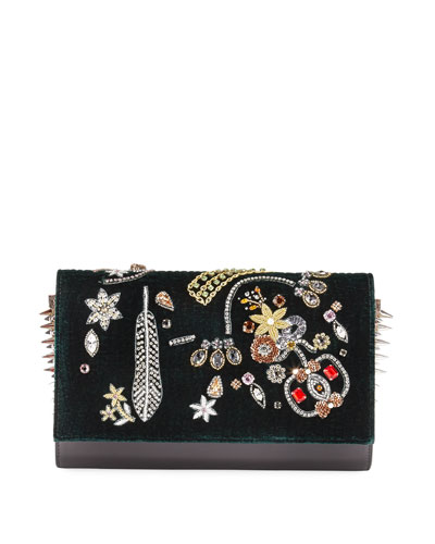 Paloma Castaloubi Beaded Clutch Bag, Black