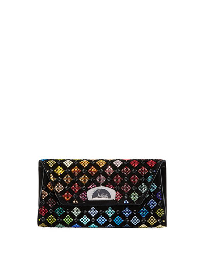 Vero Dodat Harlequin Strass Clutch Bag