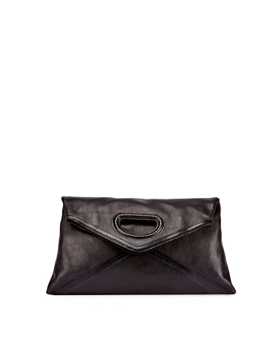 Leather Clutch Bag, Black