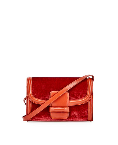 Velvet Shoulder Bag, Red