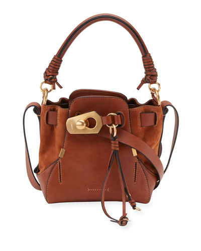 Owen Small Leather Bucket Bag