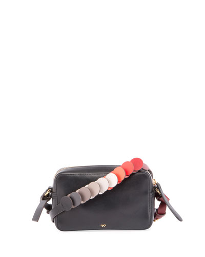 Mini Circle Crossbody Bag, Black