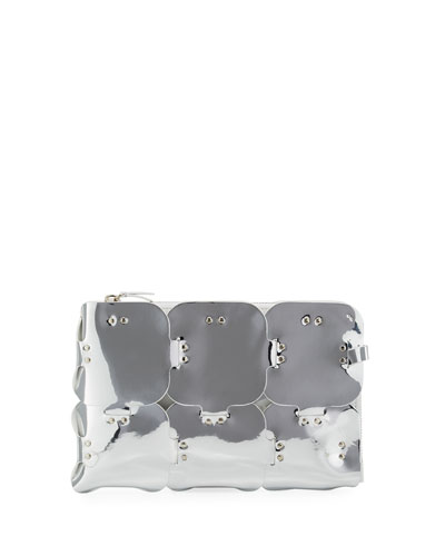 Element Dragonne Mirrored Pouch Clutch Bag