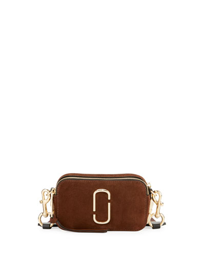 Chain Snapshot Suede Shoulder Bag