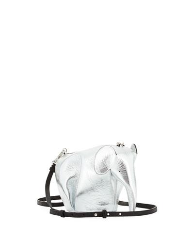 Elephant Mini Bag, Gray Metallic