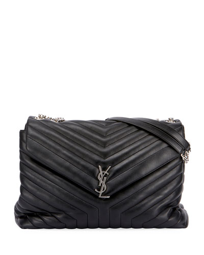Monogram Loulou Large Chain Bag, Black