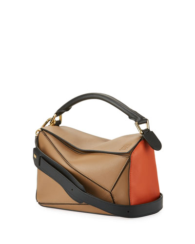 Puzzle Small Colorblock Leather Bag