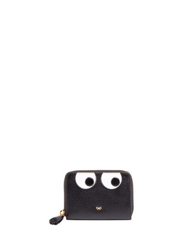 Keepsake Small Box Eyes Wallet, Black
