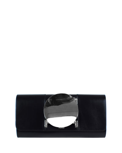 Le Disc Clutch Bag, Black