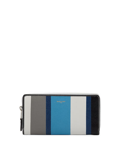Bazar Contza Striped Leather Wallet