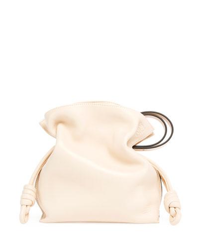Flamenco Knot Leather Bucket Bag