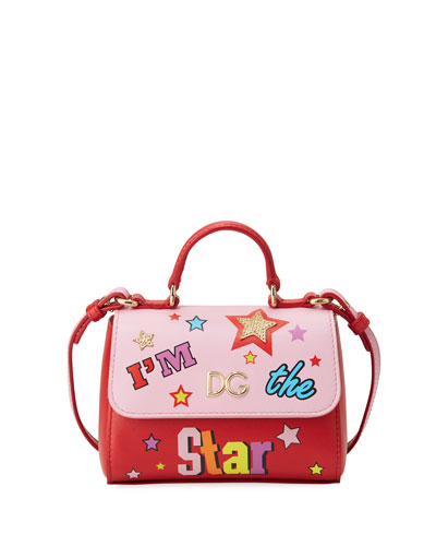 Girls' I'm The Star Leather Top-Handle Shoulder Bag