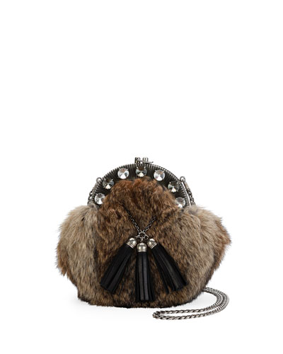 Rabbit Fur Clutch Bag