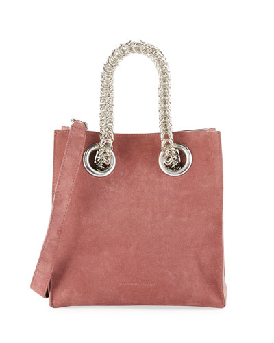 Genesis Suede Chain-Handle Tote Bag