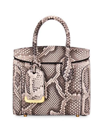 Heroine 30 Python Satchel Bag, Beige