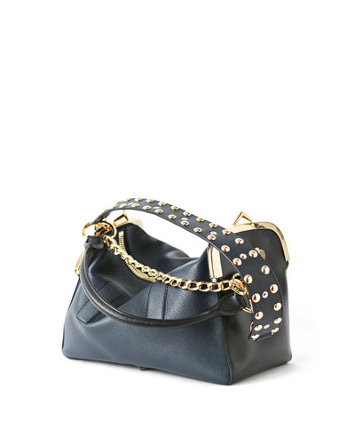 Studded Leather Coin Purse Bag, Black