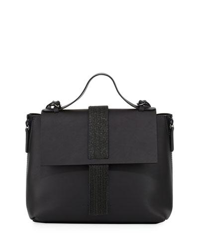 Medium Smooth Leather Monili Top Handle Bag