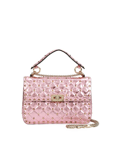 Rockstud Spike Medium Shoulder Bag, Pink