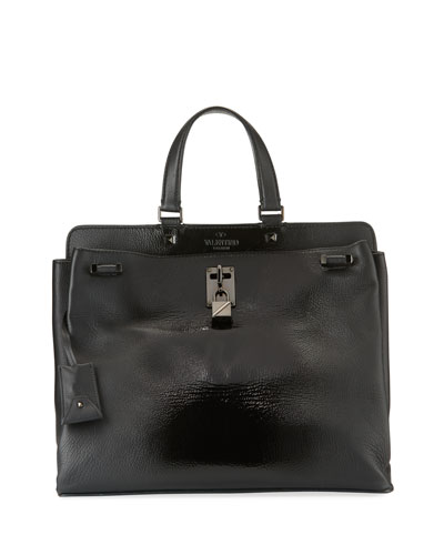 Joylock Medium Patent Top-Handle Bag