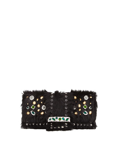 Bejeweled Cavallino & City Calf Shoulder Bag