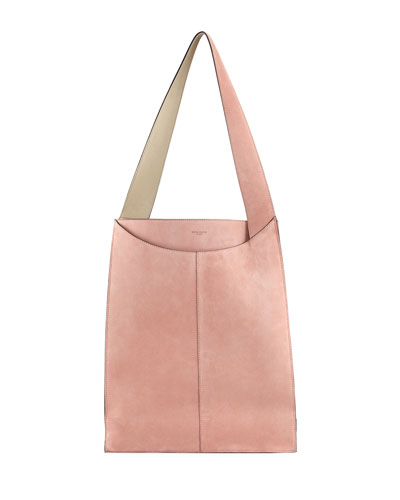 Large Suede Shoulder Bag