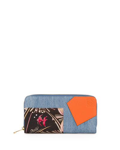 Puzzle Patchwork Zip-Around Wallet