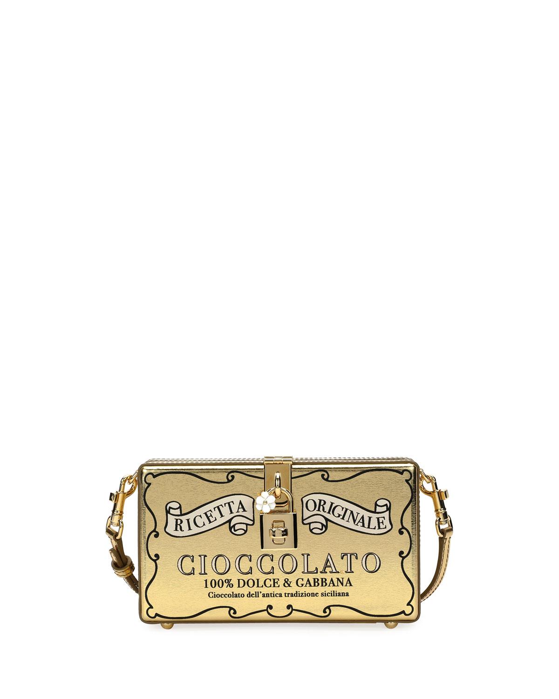 Dolce Cioccolato Metallic Leather Clutch Box