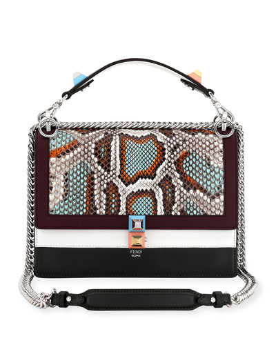 Kan I Python & Leather Shoulder Bag