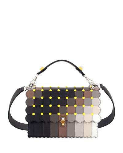 Kan I Square Marquetry Shoulder Bag