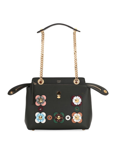 Dotcom Click Small Leather Shoulder Bag in Green