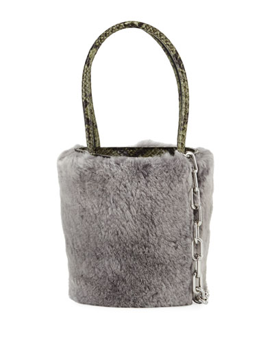 Roxy Mini Fur Bucket Bag