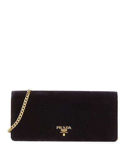 Cahier Velvet Shoulder Bag