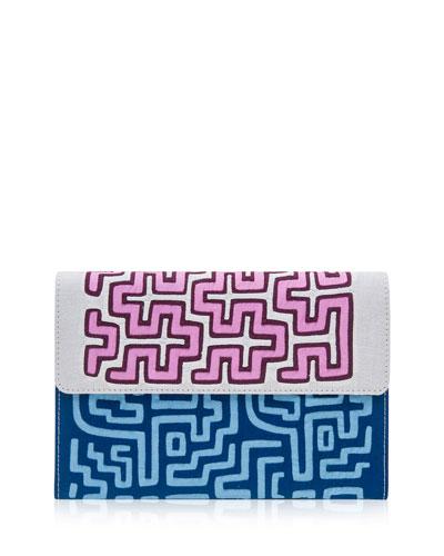 Nacrus Puri Embroidered Clutch Bag, Multi