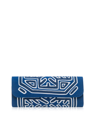Nibarka Embroidered Clutch Bag, Multi