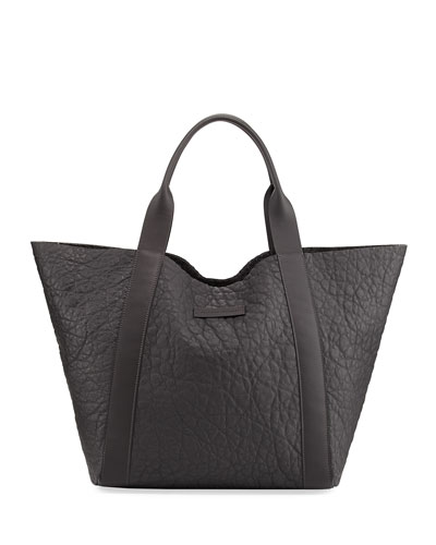 Reversible Leather/Felt Tote Bag