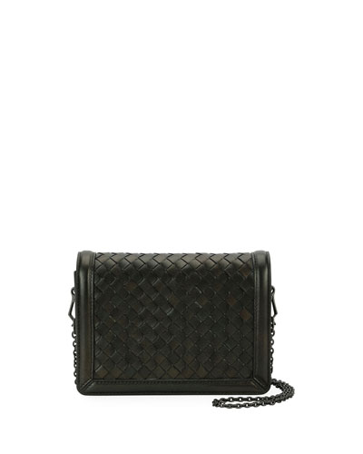 Intrecciato Napa Leather Clutch Bag