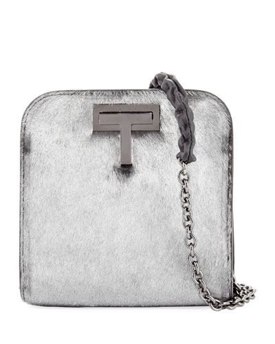 Metallic Calf Hair Day Bag