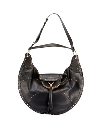 Glove Patch Leather Shoulder Bag