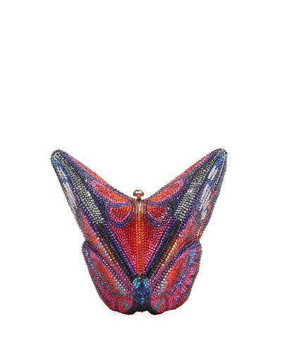 Crystal Emperor Butterfly Clutch Bag