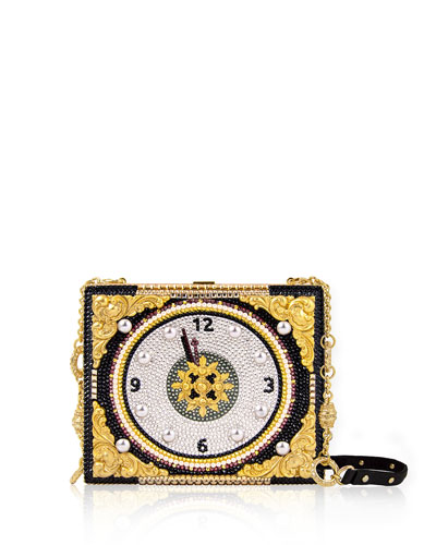 Big Ben Beaded Evening Clutch Bag